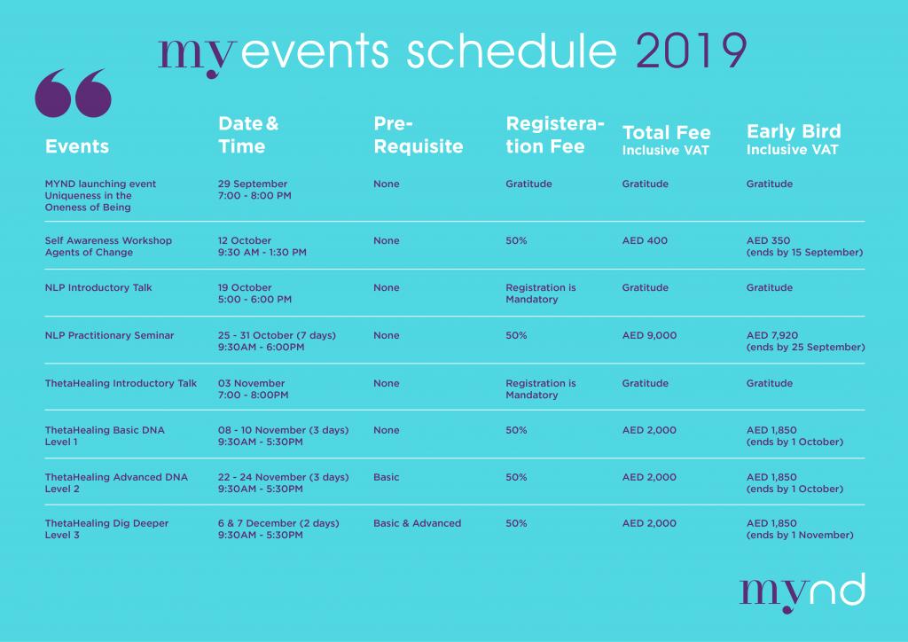 MyndCoach events